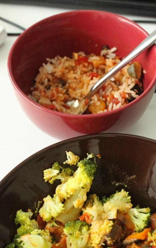 ... ja mimmille maistui myös riisin kanssa.