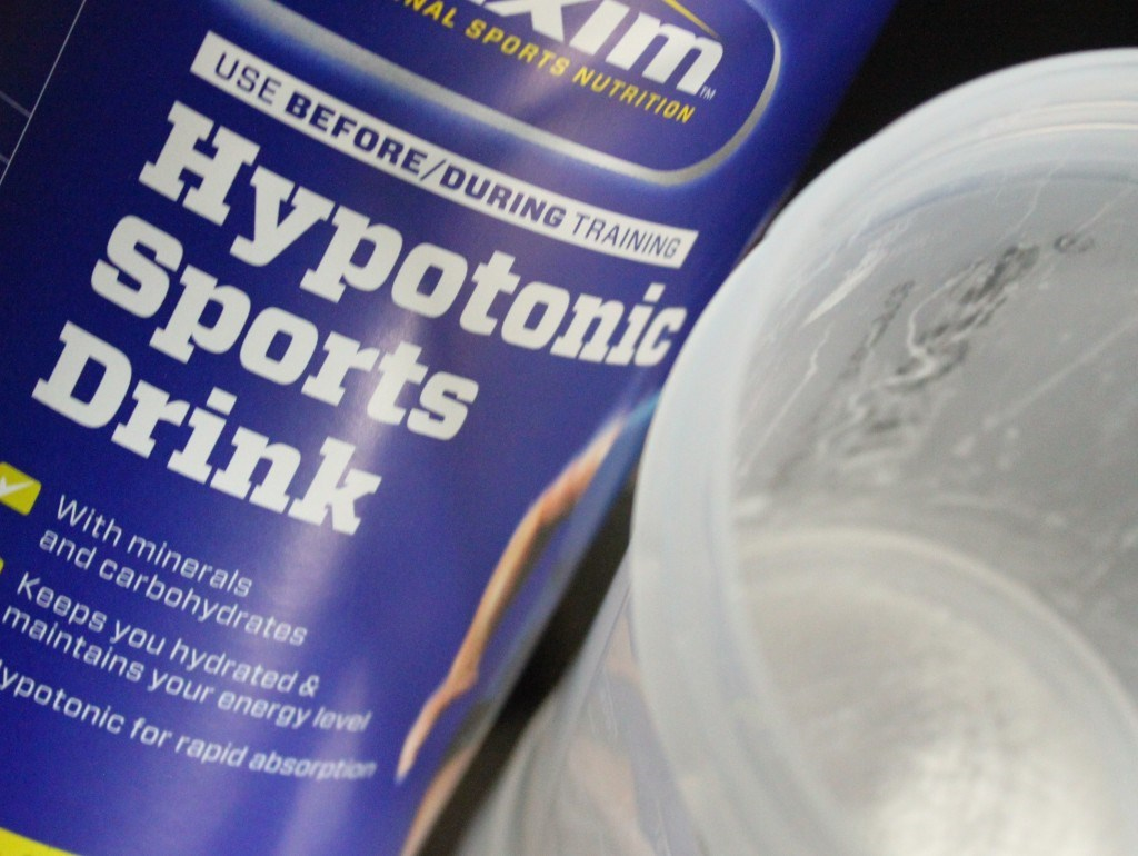 Hypotonic sports drink.