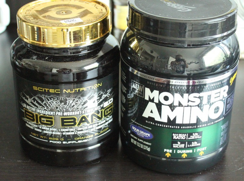Big bang & Monster amino.