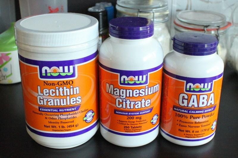 Iherbistä lesitiiniä, magnesiumia sekä GABAa.