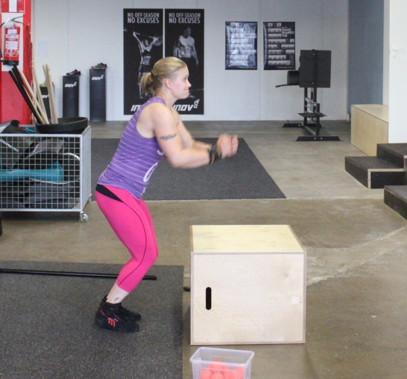 Box jumps.