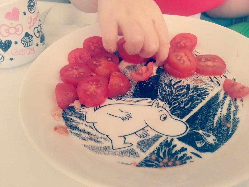 Tästä tomaattilautasesta se ajatus sit lähti..