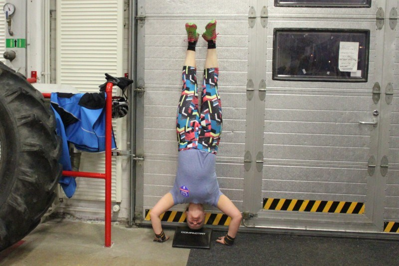 Handstand push-up.
