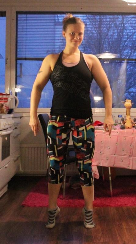 Musta toppi: better bodies. Ehkä ainoa bb:n vaate mitä enää käytän!