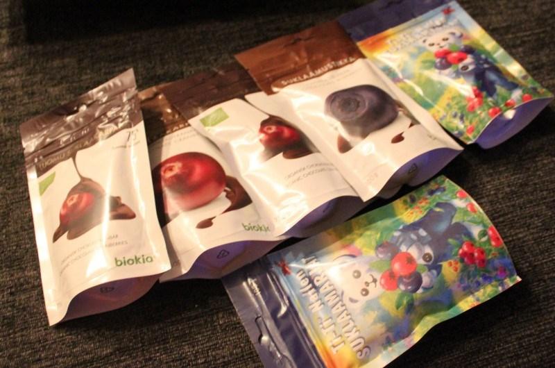 Biokian osastolta ostin satsin suklaamarjoja kotiin.