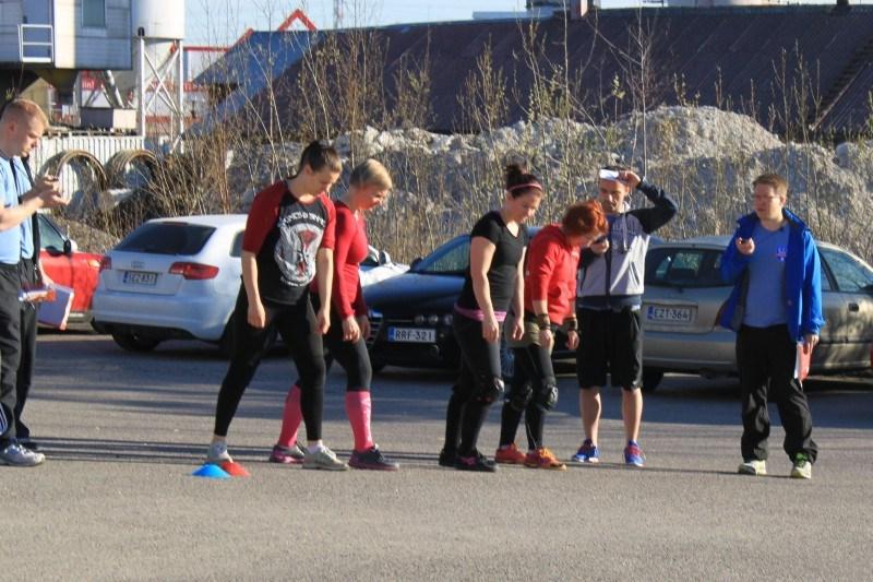 Heat 1: Tanja Mäntyvaara CF Tuusula, Mia Ojalehto CF 8000, Mirka Sollo CF Lohja ja Julia Nyqvist CF Porvoo.