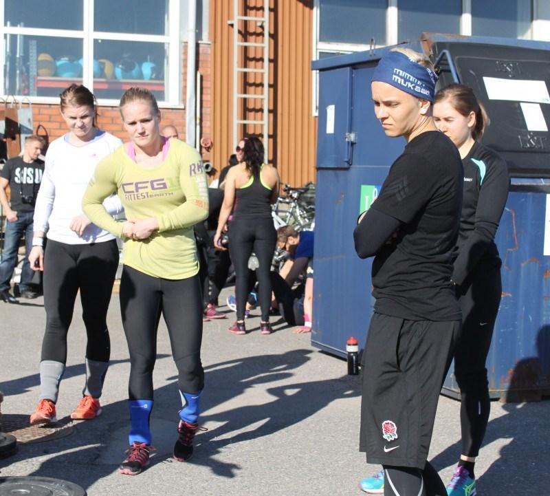 Heat 5 (edestä taaksepäin): Anu Peltokangas CF Kerava, Nanna Wackström CF Porvoo, Annika Vahomäki CF Lauttasaari ja Tiina Rinne CF Vantaa.
