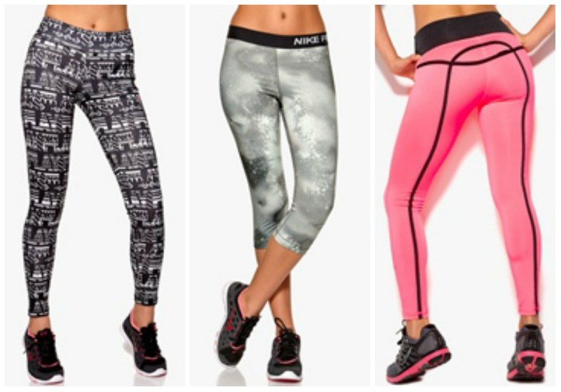 Only Play Brooklyn training tights / Nike Pro Splatter Capri / Drop of Mindfulness Bow Leggings