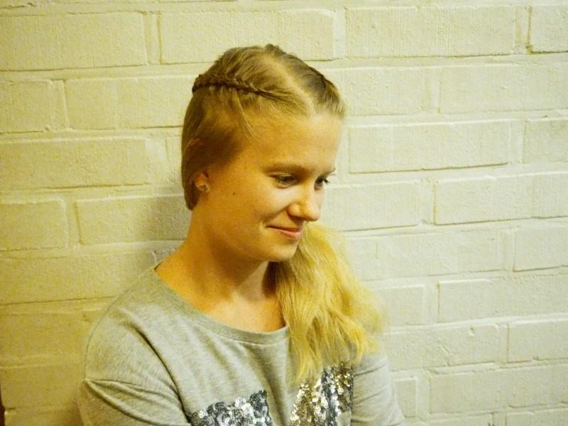 Kaisa on melkoinen taituri hiusten kanssa ja taikoo vaikka minkälaisia kampauksia ihan tuosta vaan!
