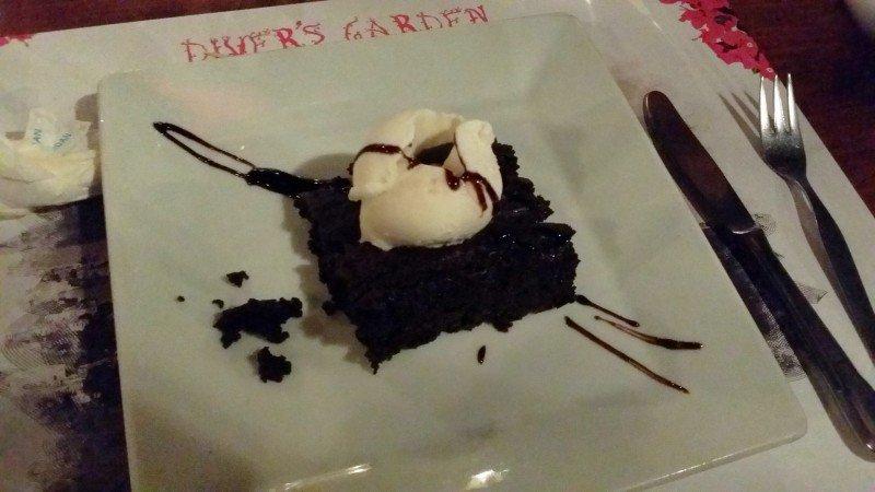 Maailman paras brownie Turkissa Gümbetissa ravintola Diver´sissa.
