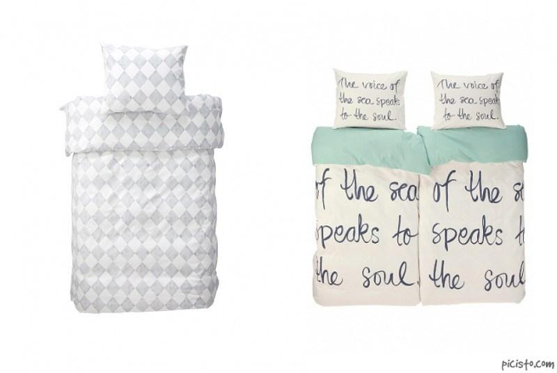 Salmiakkikuvioiset pussilakanat & vaaleat pussilakanat teksteillä