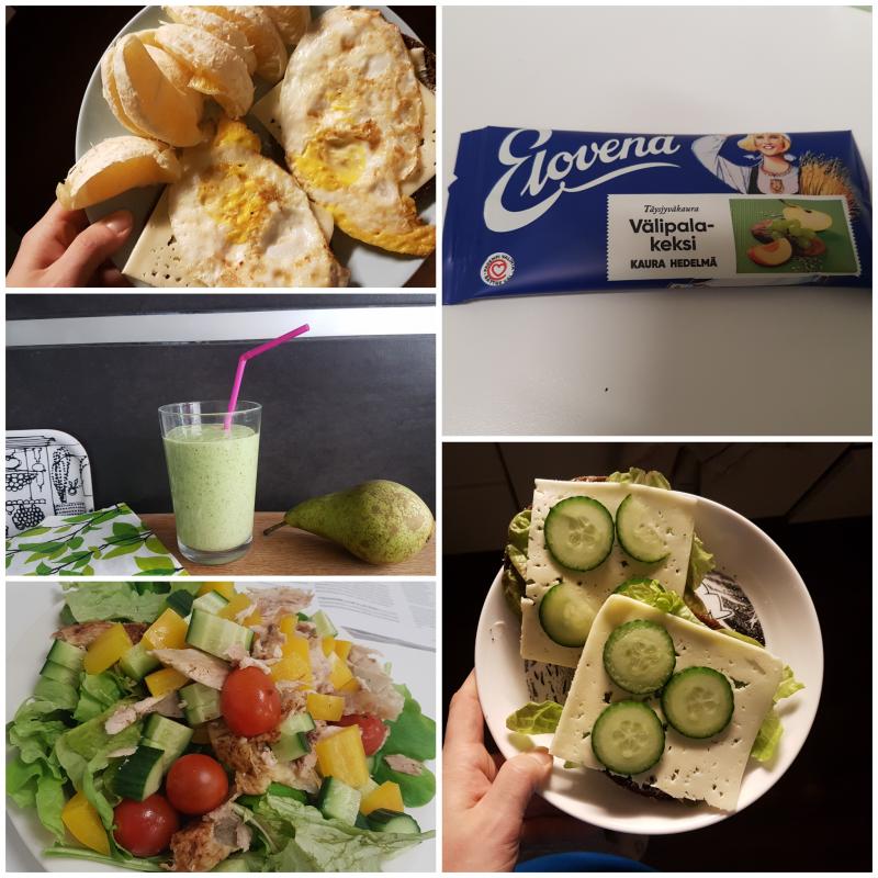 Viikon 6 ruokapäiväkirja